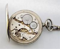 1920s Nickel Pocket Watch & Chain (6 of 6)