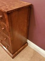 Superb Pair of Antique Burr Walnut Bedside Chests (4 of 6)