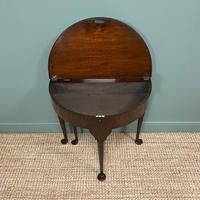Edwardian Walnut Antique Tea Table (5 of 6)