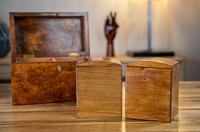 Burr Walnut Tea Caddy with Canisters 1880 (4 of 9)