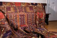 Large Mid 20th Century Colourful Flat Weave Woolen Rug (4 of 15)