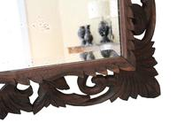 Florentine Carved Padauk Wall Mirror Overmantle c.1900 (4 of 6)