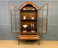 Burr Walnut Dome Topped Display Cabinet (9 of 21)