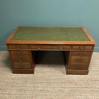 Superb Quality Large Edwardian Walnut Antique Office Desk (3 of 7)