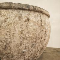 Large 18th Century Swedish Carved Wooden Burl Root - Knot Bowl (8 of 14)