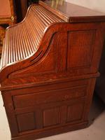 Good Oak Roll Top Desk by Maples London (6 of 12)