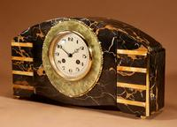 Art Deco Marble Clock Garniture French c.1940 (3 of 9)