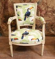 Pair of Painted Arm Chairs Regency Toucan Print Interiors (3 of 5)
