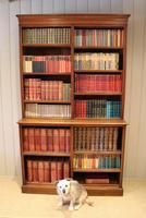 Solid Oak Open Cabinet Bookcase (5 of 11)