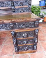 Country Oak Lions Head Pedestal Desk 1850 W M Richardson Ltd (5 of 12)