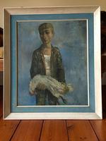 Fantastic Original Mid Century Painting by Frank Bateson Mason, Signed