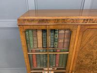 Burr Walnut Bookcase/Side Cabinet (2 of 15)