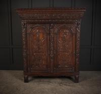 Profusely Carved Oak Cupboard (3 of 15)