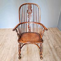 19th Century Yew Wood Windsor Chair (2 of 4)