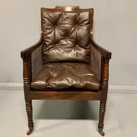 Regency Library Armchair With Leather Cushions (2 of 8)