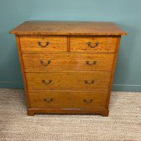 Striking Victorian Satinwood Antique Chest of Drawers (6 of 7)