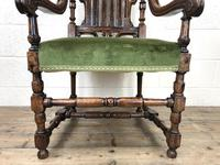 Victorian Carved Oak Armchair (3 of 10)