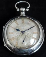 Antique Silver Pair Case Pocket Watch Fusee Lever Escapement Key Wind Silver Huntly & Losstemouth – A SimpsonAntique Silver Pair Case Pocket Watch Fusee Lever Escapement Key Wind Silver Huntly & Losstemouth – A Simpson (6 of 11)