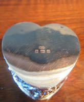 Antique Silver Heart Shaped Trinket Box (6 of 7)