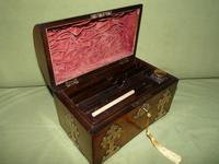 Dome Top Fitted Walnut Stationery Box c.1875 (2 of 11)