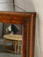 19th Century French Burr Walnut Wall Mirror (12 of 19)