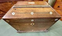 Regency Period Sarcophagus Shaped 'Double' Tea Caddy (2 of 6)
