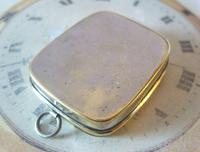 Antique Pocket Watch Chain Fob 1920s J W Benson Silver Nickel Coin Holder Fob (10 of 10)