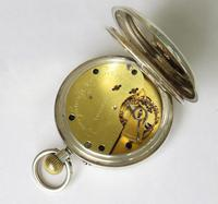 Antique silver English Lever pocket watch by Wright & Craighead (4 of 5)
