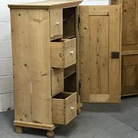 Old Pine Bread Cupboard with Four Drawers (5 of 5)