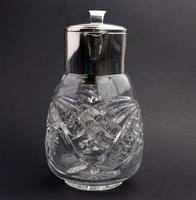 Substantial WMF Deep Cut Glass & Silver Plate Cooling Lemonade Jug c.1935 (6 of 10)