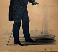 Naval Officer - Early 19th Century Georgian Silhouette Watercolour Portrait Painting (11 of 12)
