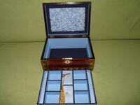QUALITY Inlaid Regency Rosewood Jewellery Box + Tray. c1830 (9 of 15)