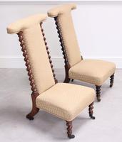 Pair of Victorian Rosewood Prie Dieu Chairs
