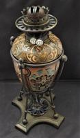 Superb Doulton Lambeth Oil Lamp by Mark V Marshall, 1881 (7 of 18)