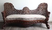 Burmese intricately carved settee in extremely good condition. (8 of 9)