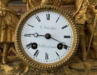 Large Superb Original 19th Century Glass Domed Gilt Mantle Clock For Minor Tlc (6 of 14)
