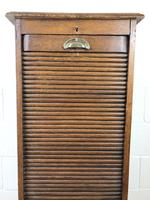 Antique Oak Tambour Filing Cabinet (6 of 9)