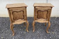 Nice Pair French Bleached Oak Bedside Cupboards (3 of 10)