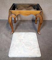 Queen Anne Style Walnut Stool c.1920 (9 of 10)