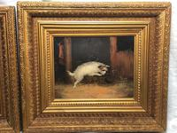 Pair of Victorian 19th Century Oil Paintings Terrier Dogs Ratting Signed J Langlois (35 of 35)