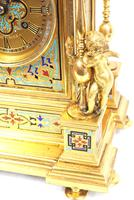 Incredible Antique French Champlevé Ormolu Bronze 8 Day Striking Mantel Clock c.1860 (11 of 13)