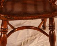 Rare Childs Yew Wood Windsor Stamped Fred Walker (6 of 10)