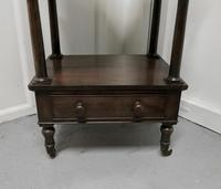 Three Tier Regency Rosewood Whatnot with Drawer (2 of 7)