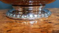 Large Antique Oak Carved Silvered Loving Cup (4 of 8)