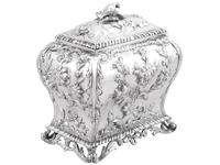 Sterling Silver Tea Caddy - Antique George III 1762 (6 of 12)