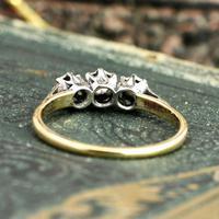 The Three Stone Illusion Set Mid Century Trio Ring (6 of 6)