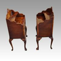 Matched Pair of Walnut Bedside Cabinets 1920's (6 of 8)