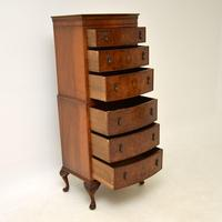 Antique Burr Walnut Chest on Chest of Drawers (7 of 10)