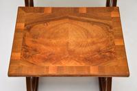 Antique Regency Style Figured Walnut Nest of Tables (9 of 12)