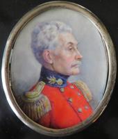 Miniature Portrait Officer - Signed Marion E. Hewkley c.1830